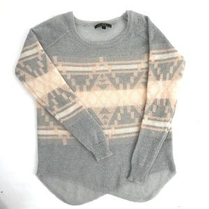 Love Stitch Boho Wool/Mohair Blend Sweater L